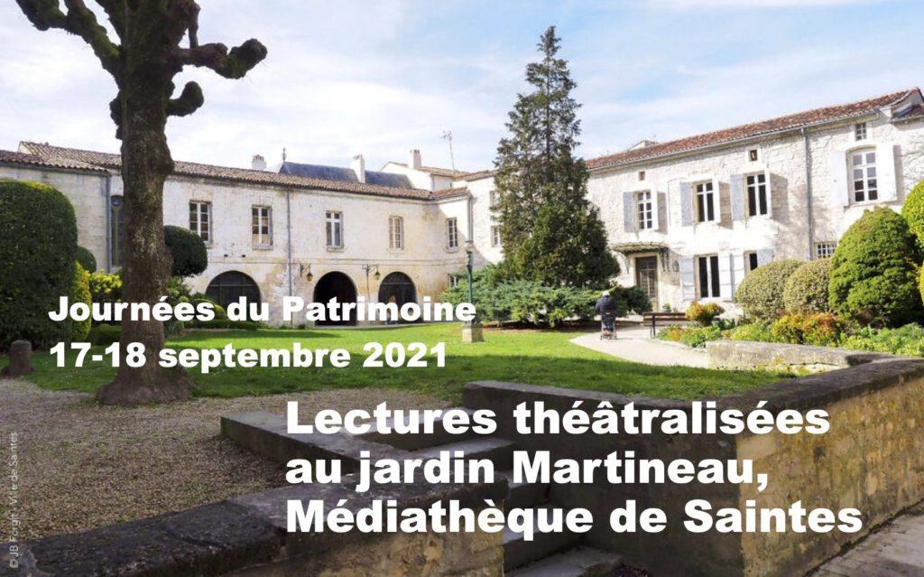 Journées du Patrimoine à Saintes, lectures théâtralisées @ Médiathèque de Saintes | Saintes | Nouvelle-Aquitaine | France